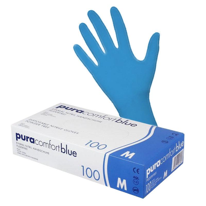Nitrilhandschuh Puracomfort blue
