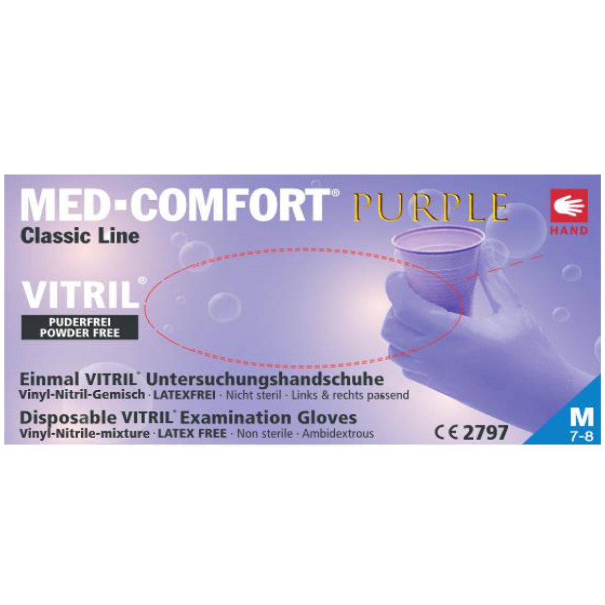 MED-Comfort Purple Vitril-Handschuhe
