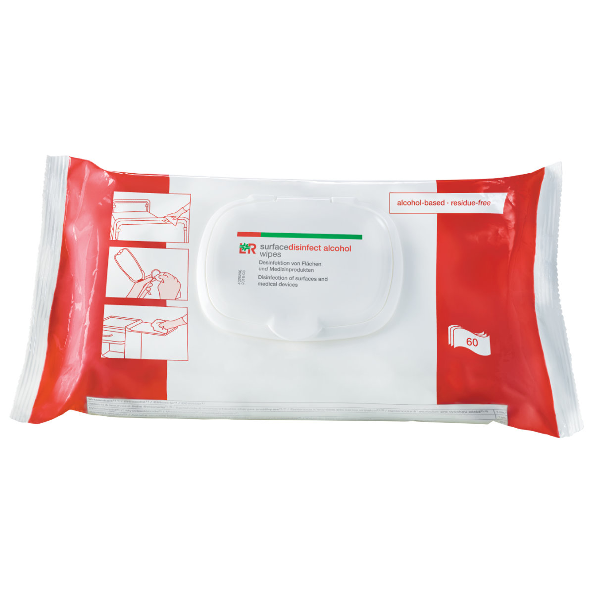 L&R surfacedisinfect alcohol wipes